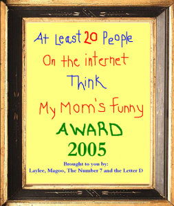 award framed